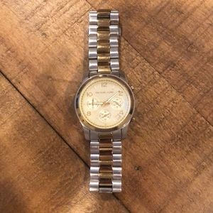 Micheal Kors Silver and Gold Watch